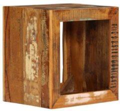 VidaXL Hocker 40x30x40 cm massief gerecycled hout