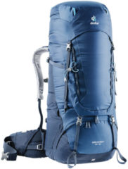 Marineblauwe Deuter Aircontact 65 + 10 liter rugzak Midnight/navy NS
