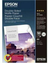Epson Double-Sided Matte Paper C13S041569 Fotopapier DIN A4 178 g/m² 50 vellen Dubbelzijdig bedrukbaar, Mat