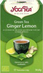Yogi tea groen Tea Ginger Lemon Voordeelverpakking - 6 pakjes van 17 theezakjes