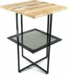 Bruine Vtw Living Industriële Koffietafel / Coffeetable - Bijzettafel van Mangohout - 58 cm hoog