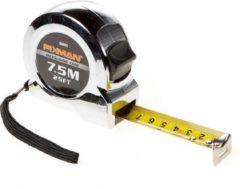 Fixman rolbandmaat verchr. 7,5mtr (Prijs per stuk)