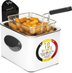Witte Frifri 1905b - hscm4000 high speed classic 3200 watt koude zone 3,5l friteuse metal wit