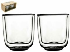 Transparante Gusta® Gusta - Dubbelwandig glas FIKA 250ml 2 stuks