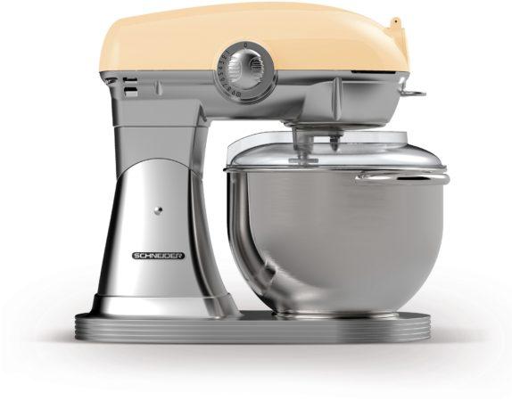 Afbeelding van Creme witte Schneider SCFP57 C Retro Keukenmachine Creme