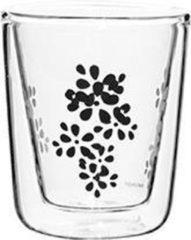 Zak!Designs - Lily Dubbelwandige Espressobeker - Borrosilicaat Glas - 75 ml - Zwart
