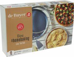 Zilveren De Buyer Taarten Homebaking Box