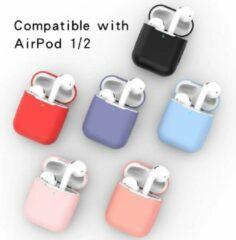 Donkergroene Merkloos / Sans marque Airpods Silicone Case Cover Hoesje geschikt voor Apple Airpods 1/2
