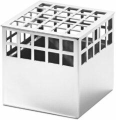 Zilveren Georg Jensen Matrix Vaas Cube - 7,2x7,2x7,2 cm - RVS