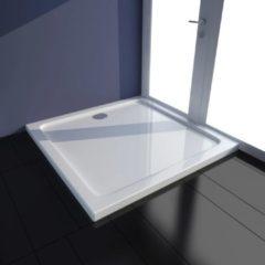 VidaXL Piatto doccia quadrato in ABS bianco 80 x 80 cm