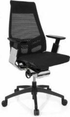 Zilveren Hjh office Bureaustoel - Met Armleuning - Netstof - Zwart/Chroom - Ergonomisch