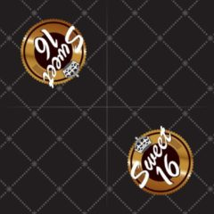 Haza Servetten Sweet 16 zwart/goud 20 stuks
