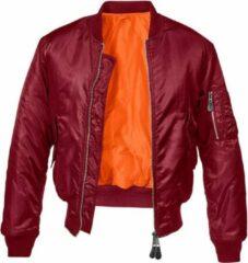 Bordeauxrode Urban Classics Bomber jacket -XXL- MA1 Bordeaux rood