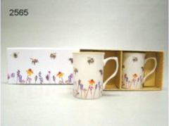 Witte Geharo Mokken set Busy Bees
