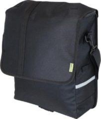Zwarte DRESCO Enkele Fietstas - Schoudertas 20L met Laptop vak