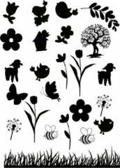Lbm Raamsticker Lente - herbruikbare sticker - statisch folie - lente - seizoenen