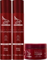 Zap Cosmeticos Zap Kit Nourish Home care Shampoo + Conditioner + Mascara 2x300ml +250 ml