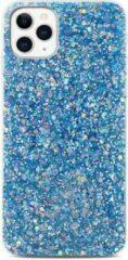 Able & Borret Smartphone hoesje | Telefoon hoesje | Glitter | Anti shock | Blauw | iPhone 11 Pro Max
