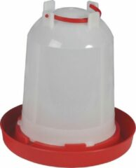 Rode Olba Beeztees plastic drinktoren wit 6 liter
