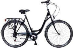 28 Zoll Damen City Fahrrad 6 Gang Popal... schwarz, 49cm