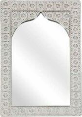 Zilveren Redhart Spiegel CHARISSA - Metaal - 37,5cm x 56 cm