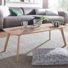 Wohnling Couchtisch SKARA MDF Eiche Furnier Wohnzimmertisch 110 cm Holztisch Landhaus Beistelltisch Eiche Kaffeetisch