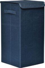 Gebor Praktische Opvouwbare wasmand met deksel en handvaten, 60x30x30cm – Peacock Blauw – Was sorteerder – Wasmand – Opbergmand – Opvouwbaar – Draagbaar – MDF/Polyester