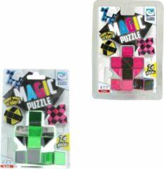 Clown Games Clown Magic Puzzle 3d 24 Dlg Groen + Puzzle 3d 24 Dlg Roze