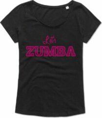 Zwarte ByKemme Zumba T-shirt - oversized - Workout T-shirt - Dance T-shirt, dans t-shirt, sport t-shirt, Gym T-shirt, Lifestyle T-shirt - Let's Zumba – S