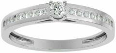 Aelra Joaillerie AËLRA 14K wit gouden modieuze damesring 0.25ct natuurlijke ronde diamant