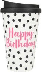 Depesche Drinkbeker To-Go Happy Birthday Dots