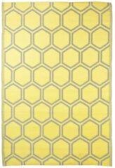 Gele Esschert Design Buitenkleed honingraat 182x122 cm
