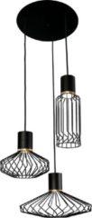 Nowodvorski Hanglamp Pico 3 lichts Ø 43 cm zwart-goud