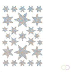 Stickers Herma 3917 DECOR ster 6-puntig, zilver irisfolie glanzend