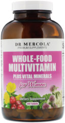 Whole-Food Multivitamin for Women plus vital minerals (240 Tablets) - Dr. Mercola