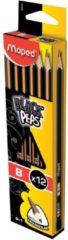 Grijze Maped Office Maped potlood Black'Peps B zonder gum 1 stuk