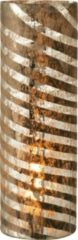J-Line Vaas Strepen Rond Glas Zilver Medium