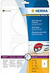 Witte HERMA printeretiketten DVD/Blu-ray labels Maxi A4 Ø 116 mm white film matt 50 pcs.