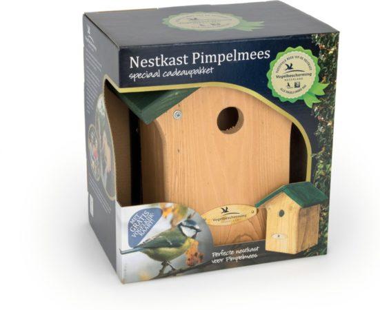 Afbeelding van Groene Vogelbescherming Wildbird Nestkast Portland Kadobox 23x19x13 cm