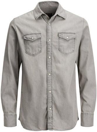 Afbeelding van Grijze JACK & JONES Must Have Overhemd Met Lange Mouwen Heren Grijs