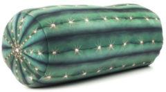Kikkerland reiskussen cactus 35 cm polyester/spandex groen