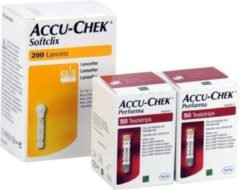 Roche Diabetes Care Accu Chek Performa actiepakket: 100 teststrips + 200 softclix
