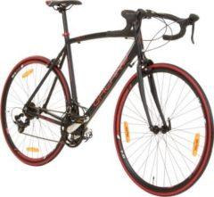 700C 28 Zoll Rennrad Viking Vuelta Sti 4 Rahmengrößen 2 Farben schwarz/rot, 62 cm