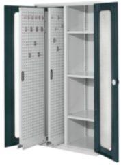 RASTERPLAN Vertikalschrank Modell 80 mit Sichtfenstertüren