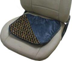 Grijze Obbomed SW-7100 Buttdy Massage Zitting Kussen Zitkussen voor vliegtuig kantoor bureaustoel met ventilerende houten kralen