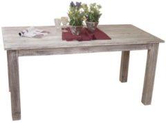 Möbel direkt online Moebel direkt online Massivholztisch 160x80 cm Esstisch aus massiven Akazienholz im trendigen used-look weiß