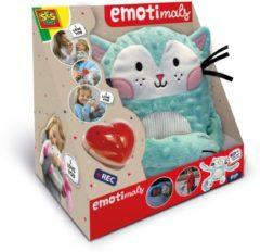 Blauwe SES Creative knuffel Pip Emotimals 30 x 20 cm Kat