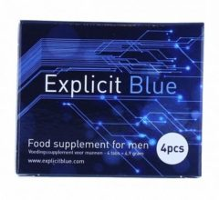 Explicit Blue Erectiepillen 4-pack