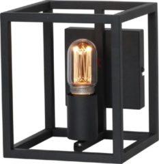 Freelight Esteso Wandlamp stalen frame 1 lichts zwart - Industrieel - 2 jaar garantie