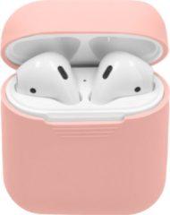 Merkloos / Sans marque Siliconen Case Voor Airpods - Roze - Roze / Pink